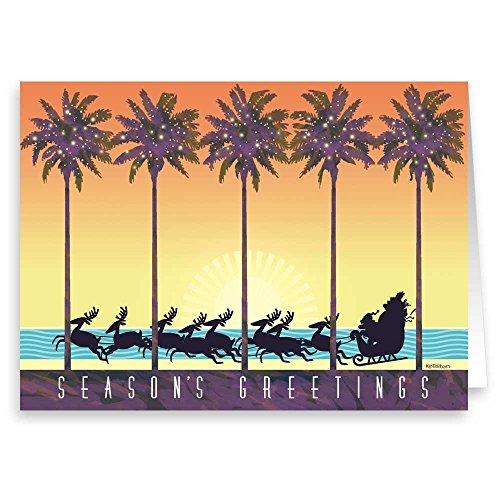 Tropical Theme (Tropical Theme Christmas Card 18 Cards & Envelopes)