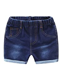 MMWORM Baby Short Jeans Pants Boy Jeans Casual Denim Short Trousers Ripped Jeans Boy