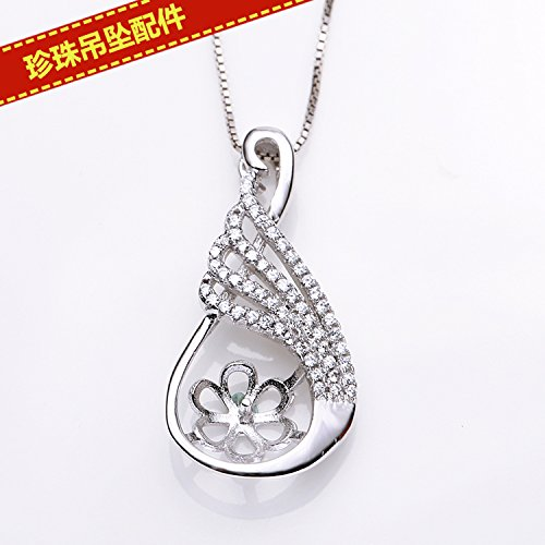 DIY only accessories necklace pendant pearl necklace pendant pearl necklace pendant mountings accessories mountings Micro Pave CZ