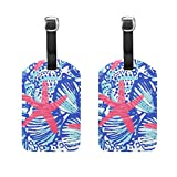 Set of 2 Luggage Tags Lilly Pulitzer Prints Suitcase Labels Travel Accessories