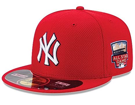 1557dce7f10a32 Amazon.com : MLB New Era New York Yankees 2014 All Star Game Home Run Derby  with Patch BP 59Fifty On Field Diamond Era Cap Hat (7 3/4) : Clothing