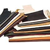 Leather Scraps Upholstery Leather For All Types of Crafts - Leather Strips, Shapes, & Scraps - 2 Lbs