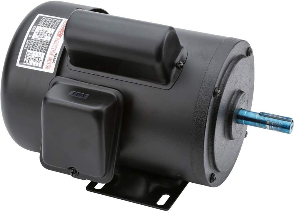Grizzly Industrial H5380 - Motor 1 HP Single-Phase 3450 RPM TEFC 110V/220V