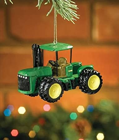 Amazon.com: Model 9420, John Deere Tractor Christmas Tree Ornament ...