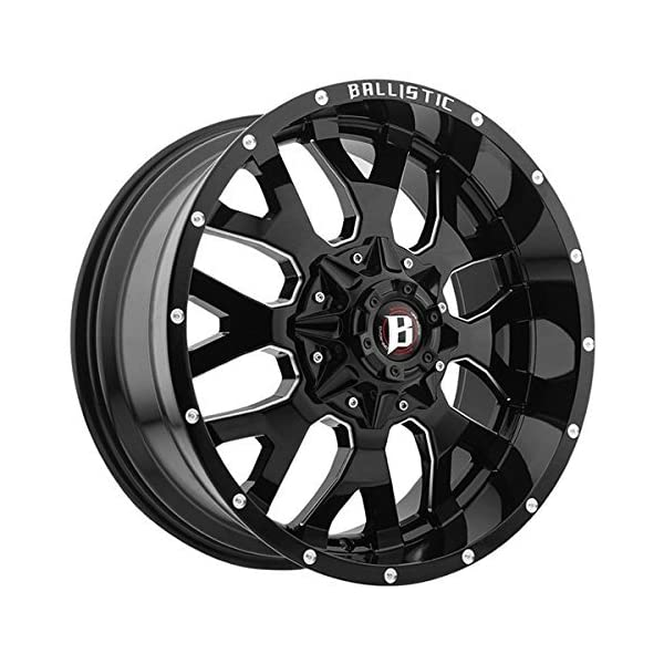 20X9-BALLISTIC-853-TANK-Bolt-Pattern-5x1397mm-and-5x150mm-or-5x55in-and-5x591in-Offset-12mm-Finish-Gloss-Black-Milled-CB-1102mm-MPN-85329006912GBX