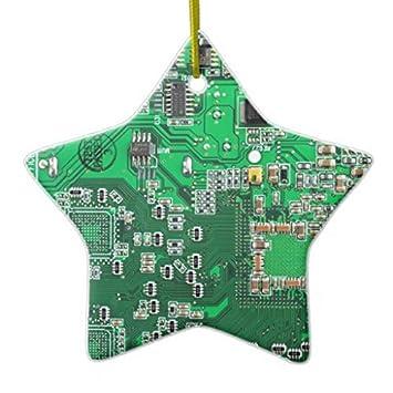 Christmas Ornaments Computer Geek Circuit Board - green Ceramic Ornament - Amazon.com: Christmas Ornaments Computer Geek Circuit Board - Green