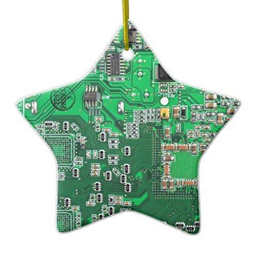 Geek Christmas Ornaments.Christmas Ornaments Computer Geek Circuit Board Green