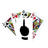 Middle Finger Gesture Silhouette Pattern Poker Playing Card Tabletop Board Game Gift