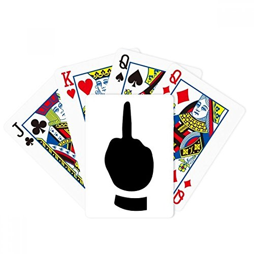 Middle Finger Gesture Silhouette Pattern Poker Playing Card Tabletop Board Game Gift by beatChong