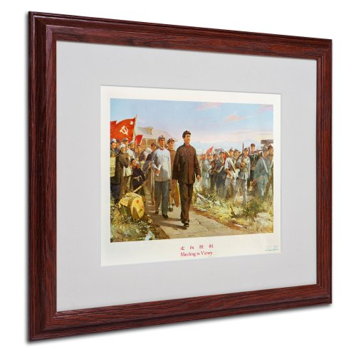 Marching to Victory Canvas Art, 16 by 20-Inch, Wood Frame