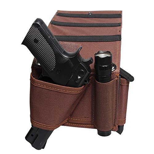EXPLORER Shoulder Double Pistol Carrier for Under Arm Vehicle Seat, Office Seat Concealed Handgun Mattress Bed Handgun Adjustable Holster Tactical Flashlight Loop