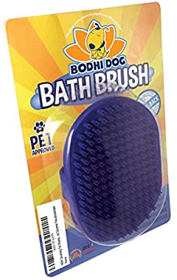 NEW Grooming Pet Shampoo Brush | Soothing Massage Rubber Bristles Curry Comb for Dogs & Cats Washing | Vet and Groomer Recommended by Bodhi Dog