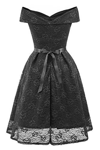 Mujer Vestido XXL Trapecio TOSKANA BRAUT para Negro n1PgxqIz4