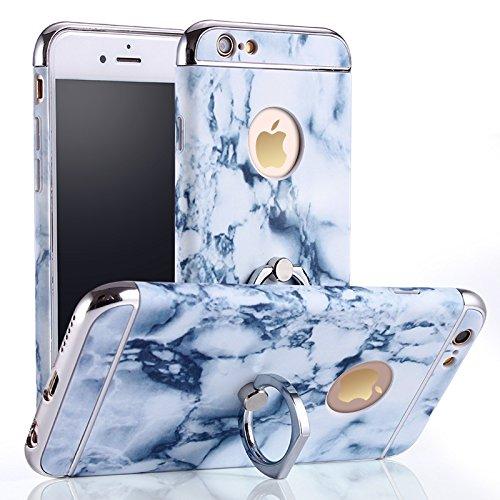 iphone 6 Plus Case, Sunroyal® Ultra-thin 3 in 1 Anti-scratch (Grey Marble Grid)