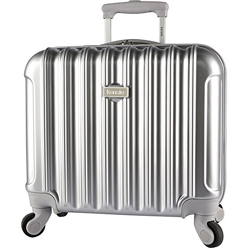 Kensie Luggage 16-Inch Rolling Briefcase - Silver Hardside Business Cases