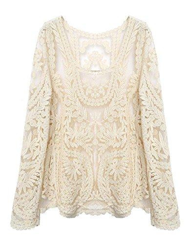 fancyqube - Camiseta de manga larga - para mujer blanco
