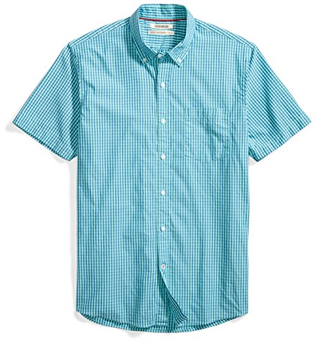 Goodthreads Men's Standard-Fit Short-Sleeve Gingham Plaid Poplin