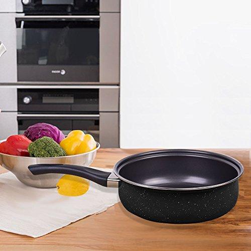 Cookware Set Nonstick 9-piece Stainless by LUFEIYA (Black)