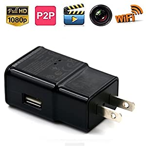 XJW P2p Wifi 8GB 1920X1080P HD USB Wall Charger Hidden Spy Camera / Nanny Spy Camera Adapter With in