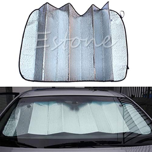 yersty 1PC Foldable Auto Front Rear Window Sun Shade Car Windshield Visor Cover ()