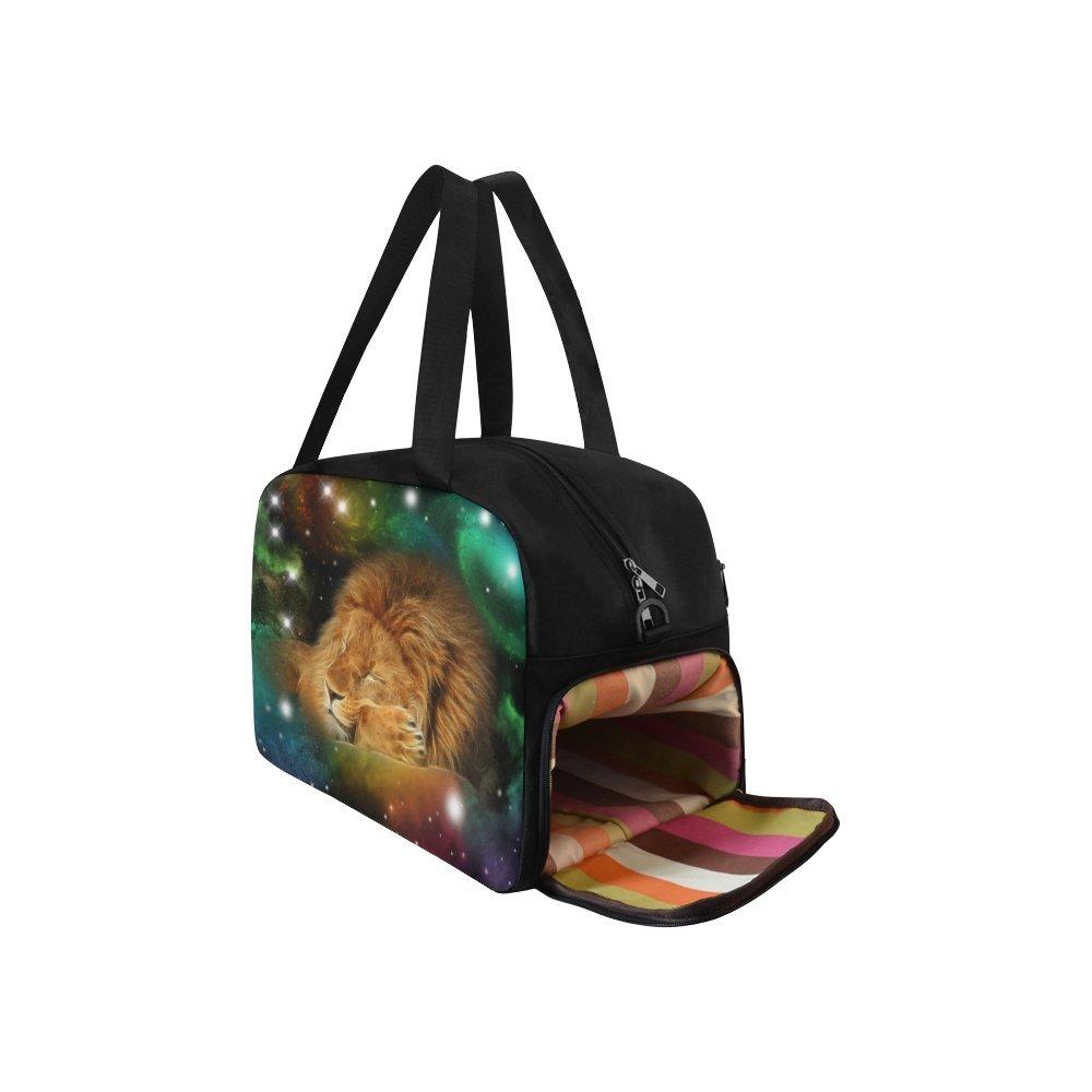 InterestPrint Zodiac Leo Galaxy Lion Duffel Bag Travel Tote Bag Handbag Luggage by InterestPrint (Image #3)