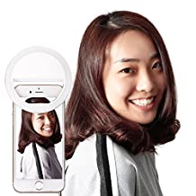 Neewer® 36 LED Clip-on Selfie Cellphone Ring Light for Night or Darkness Fill-in Lighting Spotlight with 3 Level Brightness for iPhone Samsung HTC Nokia iPad and Other Smartphones(White)