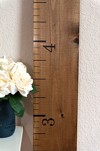 Amazon Wooden Growth Chart Ruler Rustic Walnut Handmade
