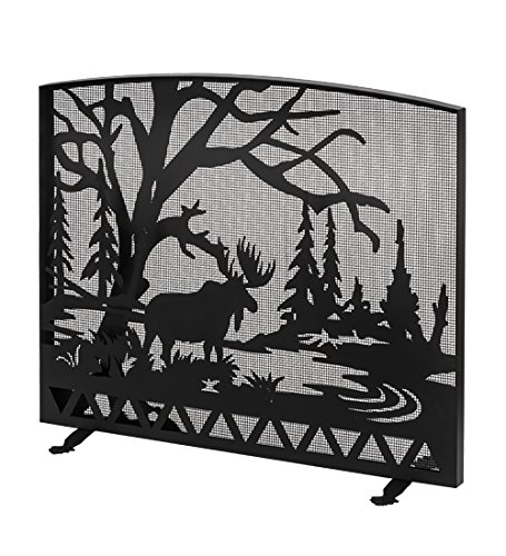 Meyda Tiffany Fireplace Screen - Meyda Tiffany 188444 47 X 39 in. Moose Creek Arched Fireplace Screen