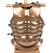 Medieval Roman Greek Muscle Body Armor Cuirass Brass Finish