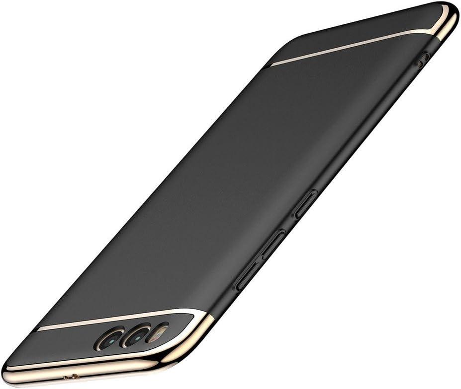 """skrzynki pokrywy Xiaomi Mi 6, Leathlux Plating PC Opaque Ultra-cienki pasek zabezpieczający Futerał Zderzak amortyzacyjny i Anti-Scratch 3 1 w przypadku dla Xiaomi Mi 6 5.15 """"(czarny)"""