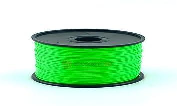 Filamento 3D Fluorescente Verde Pla 1.75 mm inalámbrico 3D Printer ...