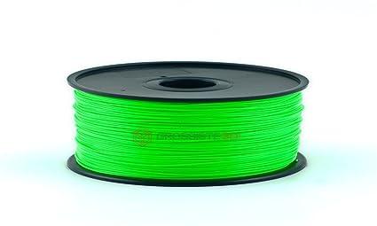 Filamento 3D Fluorescente Verde Pla 1.75 mm inalámbrico 3D ...