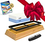 Whetstone: 2-Sided Professional Grade Knife Sharpening Stone - 1000 and 6000 Grit