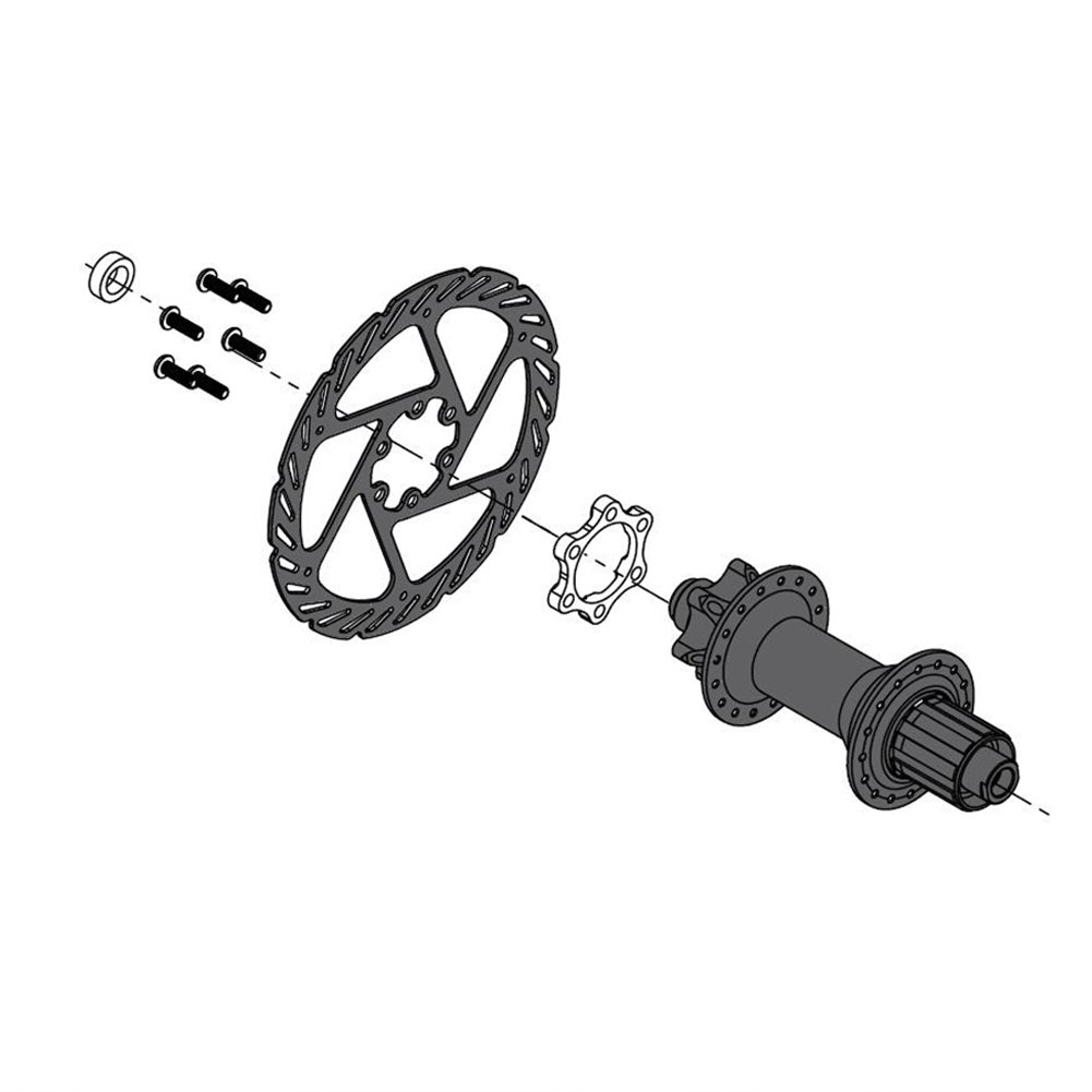 14212mm to 14812mm for Rear Disc Brake Adapter,Alloy Bike Hub Adapter Conversion Front 10015 to 11015 Rear 14212 to 14812 Bicycle Freewheel Threaded Hubs Adaptor Disc Brake Rotor Bolts
