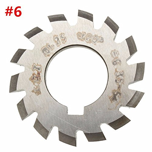 Best Garden Tools Diameter 22mm M1.25 20 Degree #6 34-54 Gear Involute Gear Cutters HSS Module High Speed Steel HOT by Best Garden Tools