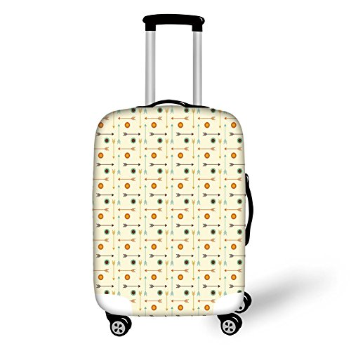 - Travel Luggage Cover Suitcase Protector,Classic Traditional Patterns Crystal Chr