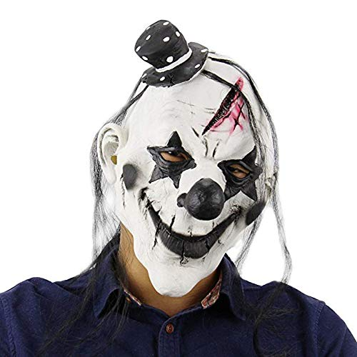 Evil Satanic Demon Scary Horror Halloween One Size Evil Scary Clown Mask by Halloween Paradise (Image #2)