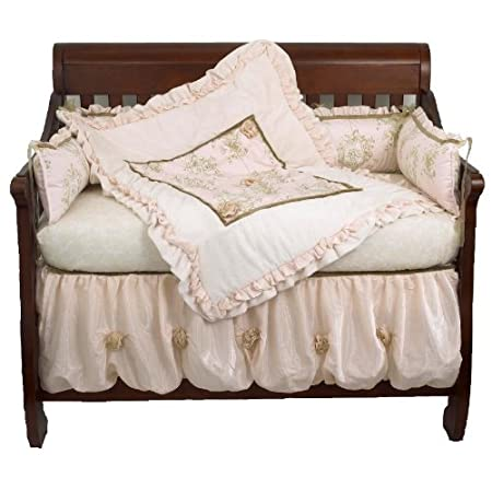 Cotton tale designs 4 Piece Crib Bedding Set, Lollipops and Roses