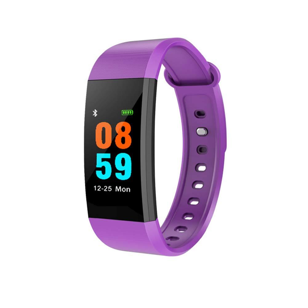 WETERS Fitness Tracker Aktivität Tracker Uhr Dynamische Herzfrequenz überwachen wasserdicht Schritt Informationen s eben Arm d Sport Zählen(lila)