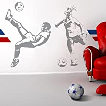 Sudden Shadows Soccer Players – Deluxe Soccer Set - Wall Art Sticker Mural