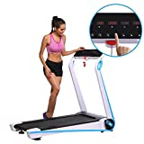 Elever Bluetooth LCD Display Touch Screen Running Machine Space Saving Treadmill (US Stock)