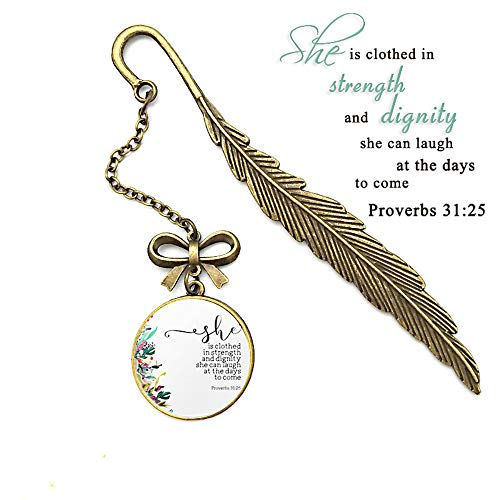 Scripture Feather Inspirational Bookmarks, Christian Bible Verse Inscription Gifts for Friends and Family (3A Broverbs - Antique 3a