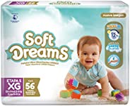 Soft Dreams Pañales Para Bebé Etapa 5 Talla Xg 56 Piezas