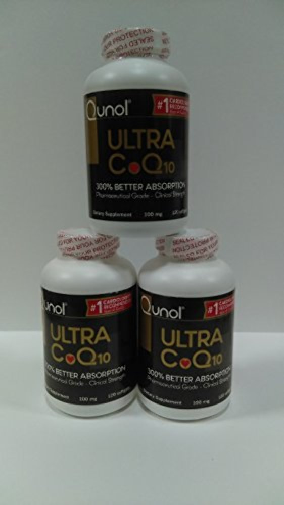 $$$ Save Money!! $$$ Qunol Ultra CoQ10 120 count Value Pack (pack of 3)