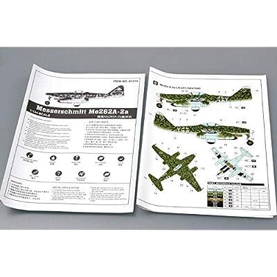 Trumpeter 1/144 Messerschmitt Me262A2a German Fighter: Toys & Games