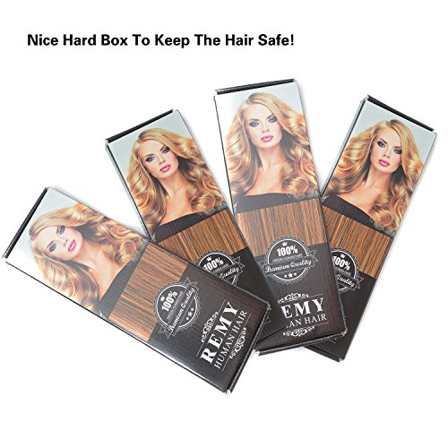 14'' Remy Human Hair Clip in Extensions for Women Dark Brown(#2) 6Pieces 70grams/2.45oz by BHF HAIR (Image #8)