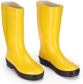 Botas de Goma, Botas de Fuego Para Ambulancias Profesionales, Zapatos de Seguridad de Goma Resistentes A Impactos Y ácidos Resistentes A Los Impactos(45): Amazon.es: Bricolaje y herramientas