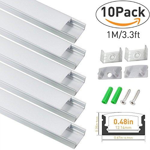 Aluminum Led Light Strip Housings