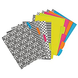 Avery Big Tab Reversible Fashion Dividers, 5 Tabs, 1 Set, Assorted Designs (24914)