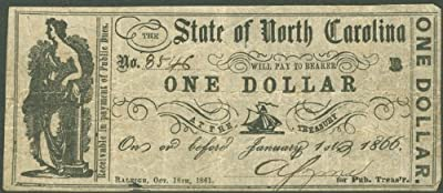 State Of North Carolina - Confederate Currency - Signed October 18, 1861
